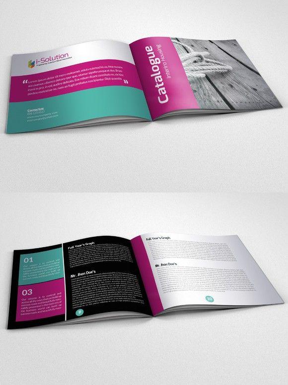 4 pages business bi fold brochure
