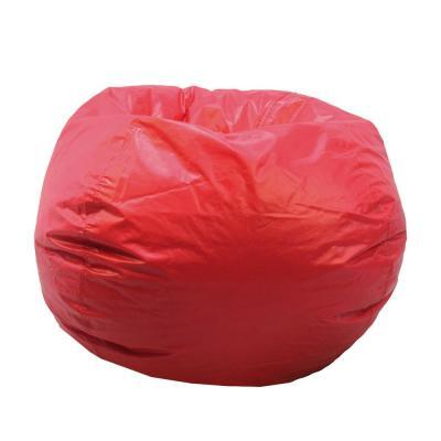 Acessentials Red Vinyl Bean Bag 9800301 The Home Depot Bean Bag Chair Casual Furniture Blue Chairs Living Room