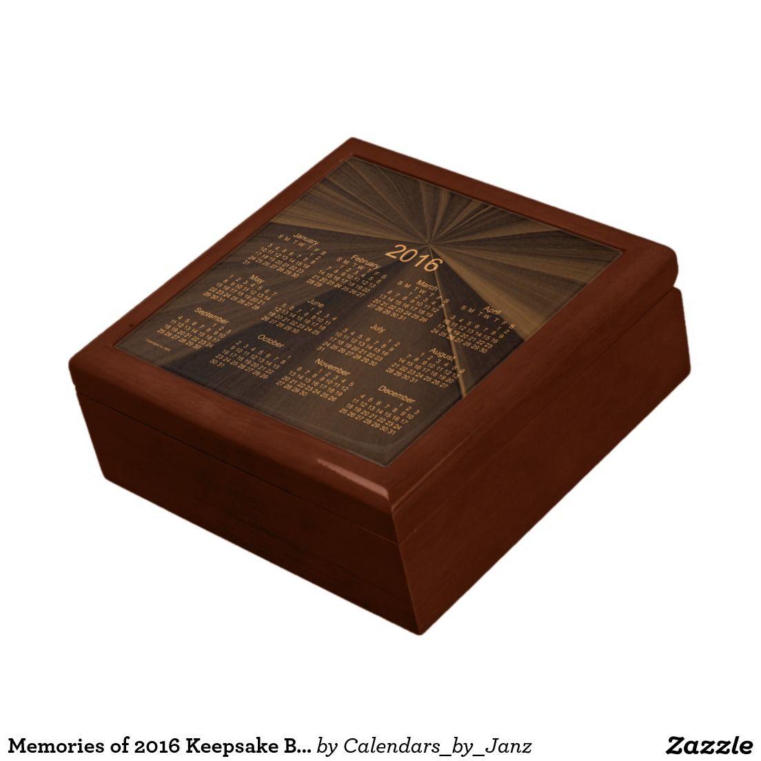 Memories of 2016 Keepsake Box Calendar by Janz