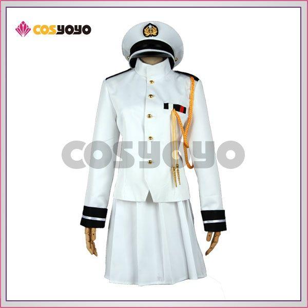 艦隊これくしょん 改良版 女性提督 海軍提督 軍服 コスプレ衣装 コスプレ 衣装 軍服 コスプレ 軍服