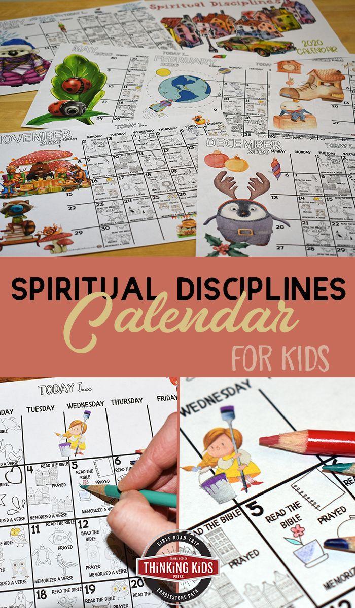 Spiritual Disciplines Calendar for Kids (With images