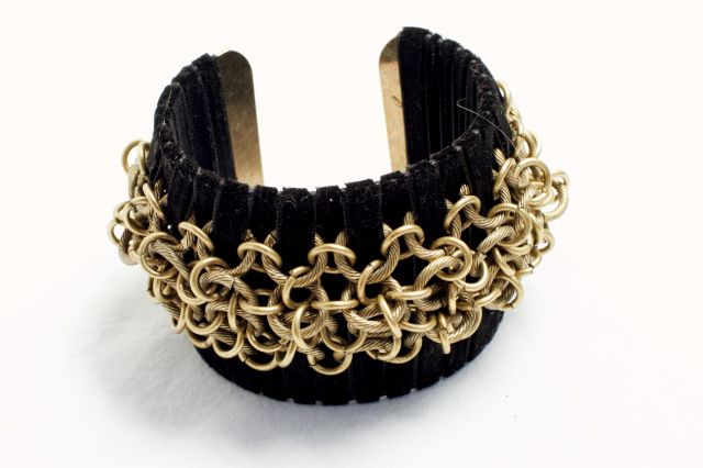 Velvet Cuff with Chains