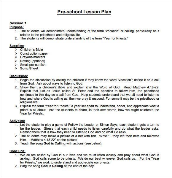 Pin by Wanita Bowman on Children - Curriculum Pinterest - lesson plan example