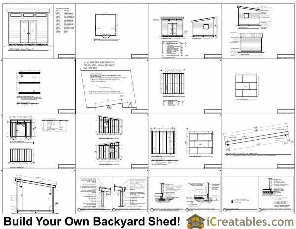 Gentil 12x12 Modern Shed Plans