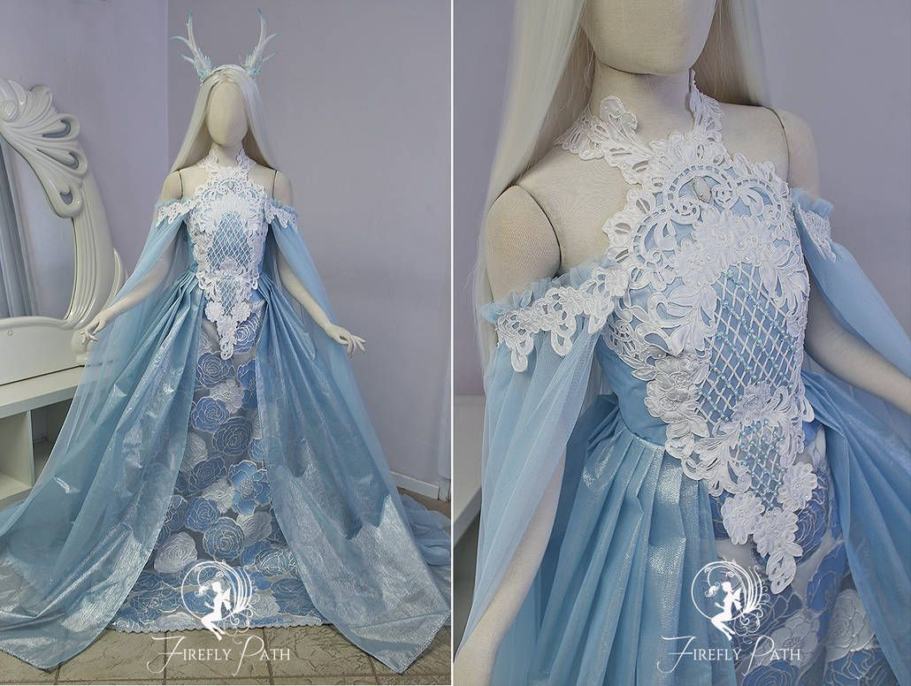 e256f41d87 Frost Rose Gown by Firefly-Path on DeviantArt
