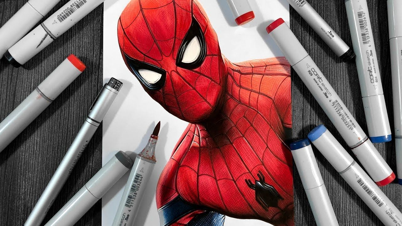 Drawing spiderman far from home spiderman drawings