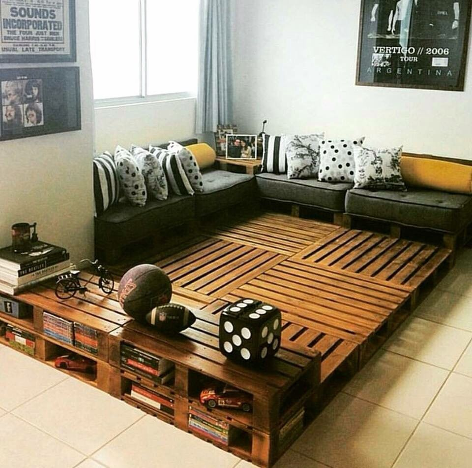 Sala De Pallets Curiosidades Pinterest -> Sala De Tv Jefferson