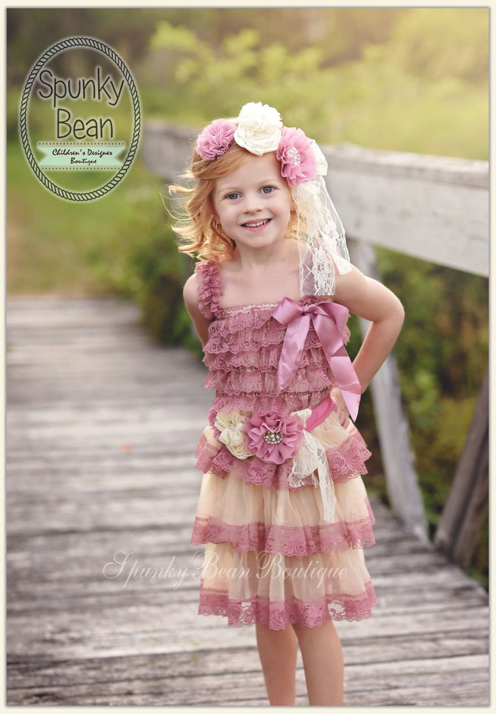 f82553dcdf Flower Girl Lace Dress