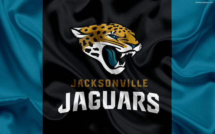 Download Wallpapers Jacksonville Jaguars, American Football, Logo, Emblem,  National Football League,