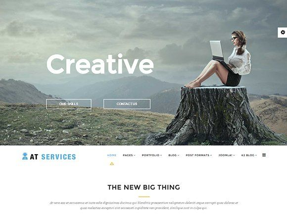 AT Services-Business Joomla Template by Age Themes on @Graphicsauthor