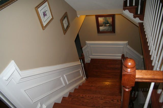 2pc Chair Rail Shadowboxes In Stairway Wainscoting Stairs Trim Chair Rail