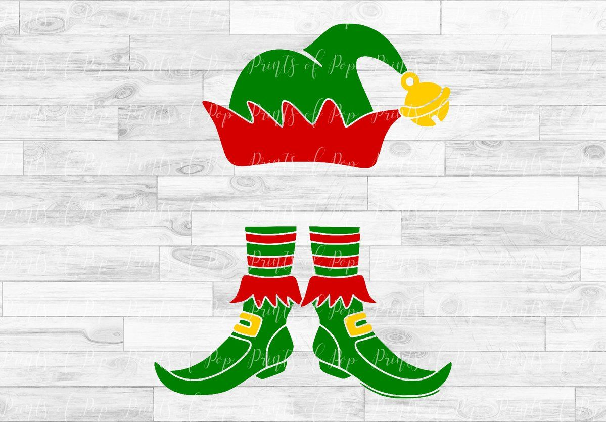Christmas Elf Hat and Shoes svg dxf png Christmas elf