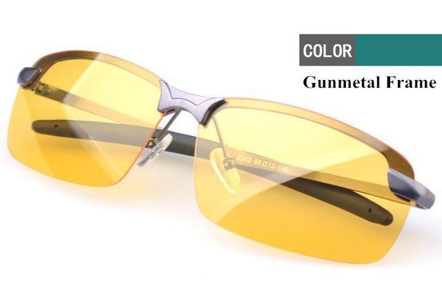 VWKTUUN Polarized Sunglasses Men Night Vision Goggles Men's Fishing Driving Glasses Male Oculos Anti-Glare Sun glasses For Men – gunmetal frame