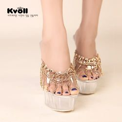 T26970 Kvoll fashion beads ornament transparent wedge heel slipper silver [T26970] - $25.50 : China,Korean,Japan Fashion clothing wholesale and Dropship online-Be the most beautiful Lady