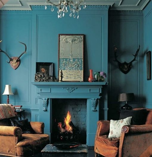 enamel blue | our dining room color
