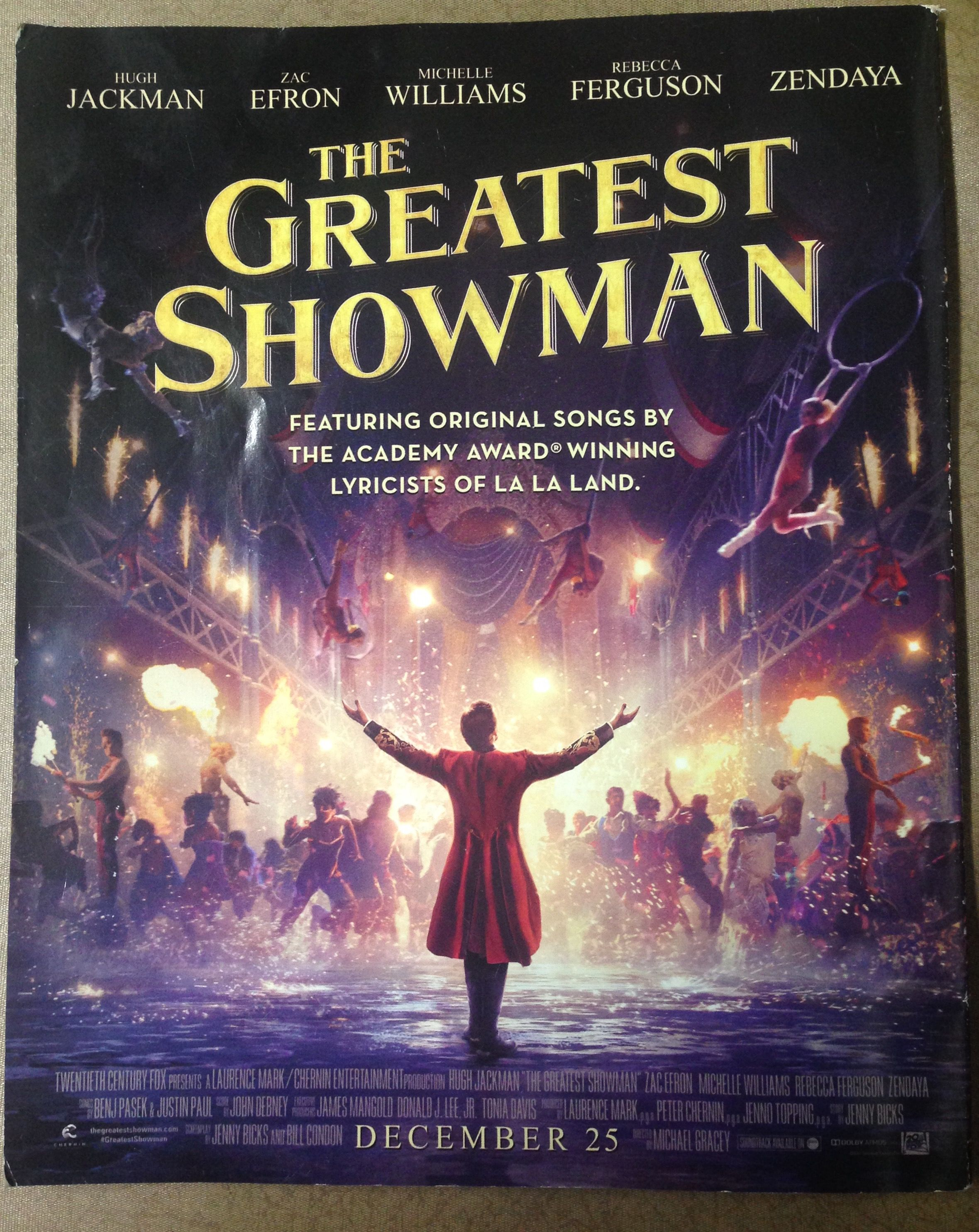 The Greatest Showman on Magazine Back Cover | The greatest showman ...