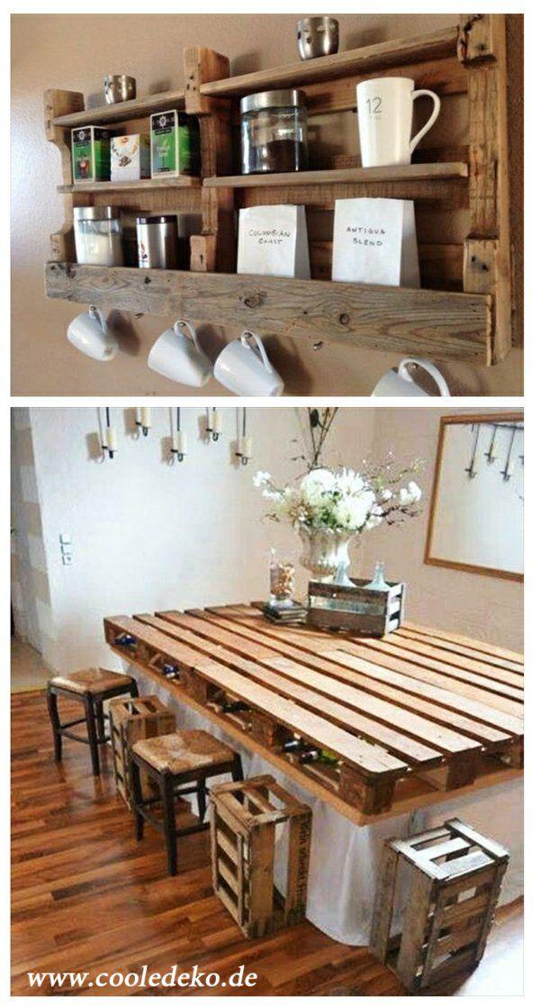Möbel aus Europaletten regale tisch DIY und Selbermachen - kücheninsel selber bauen