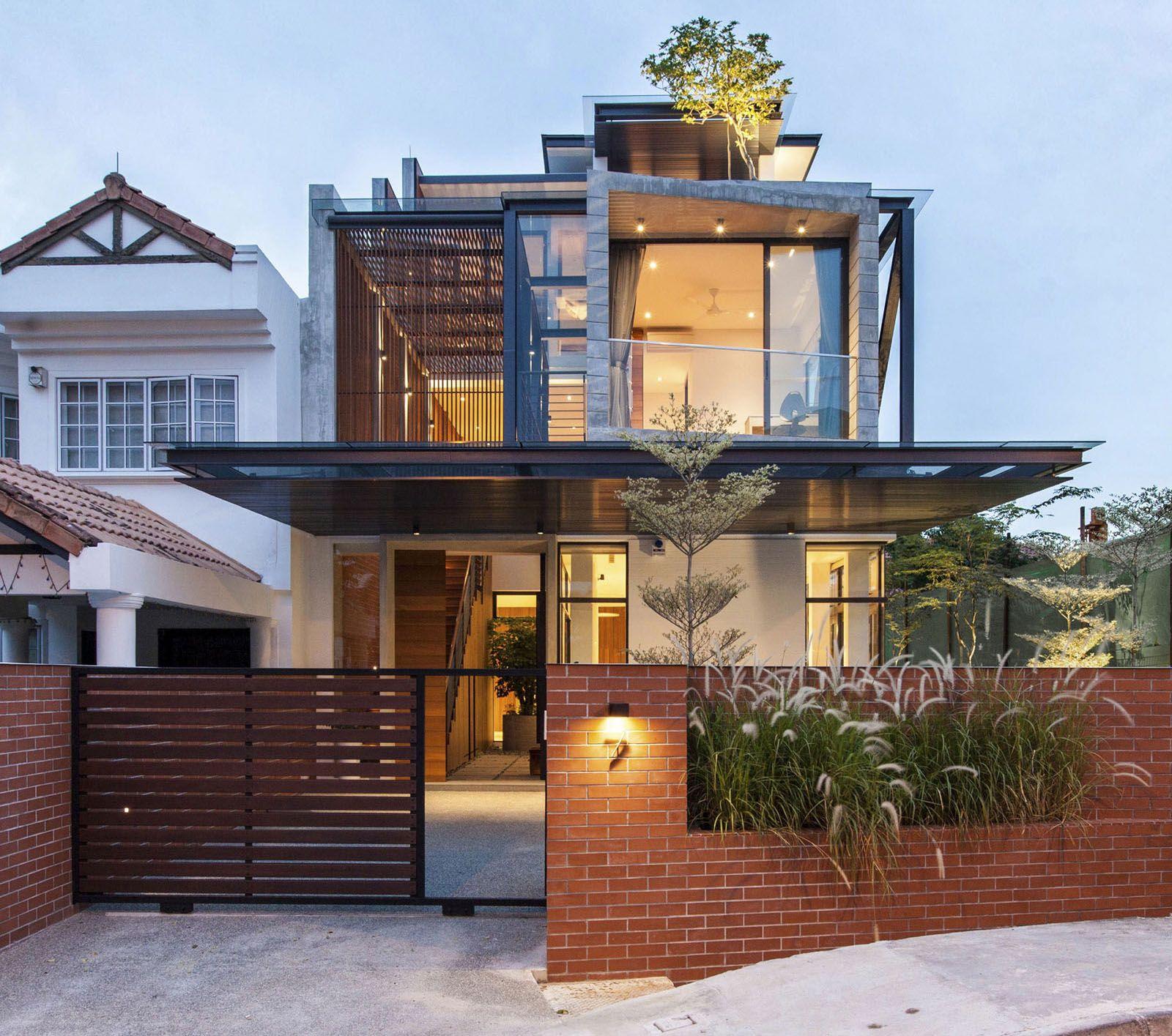 Home Design Singapore yacht house Landscape Design Modern Semi Detached House In Singapore