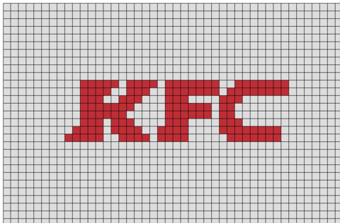 Kfc Pixel Art Pixel Art Minecraft Pixel Art Pixel Art Pattern