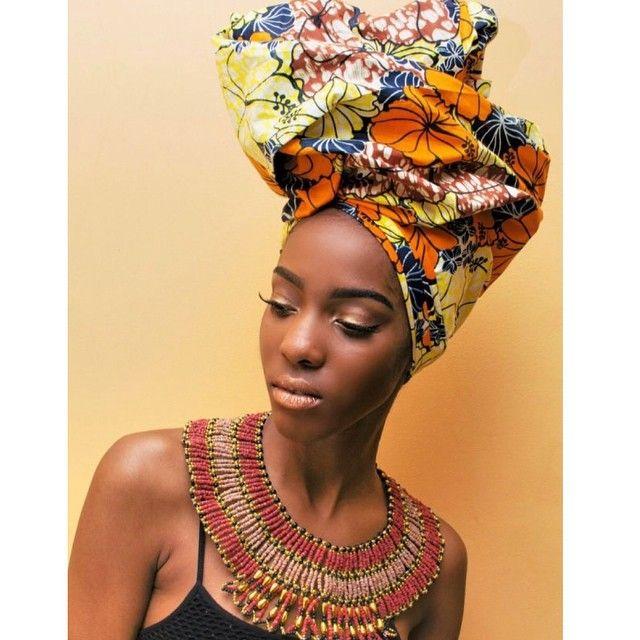 Foulard cheveux afro crépus naturels en 2019 Foulard