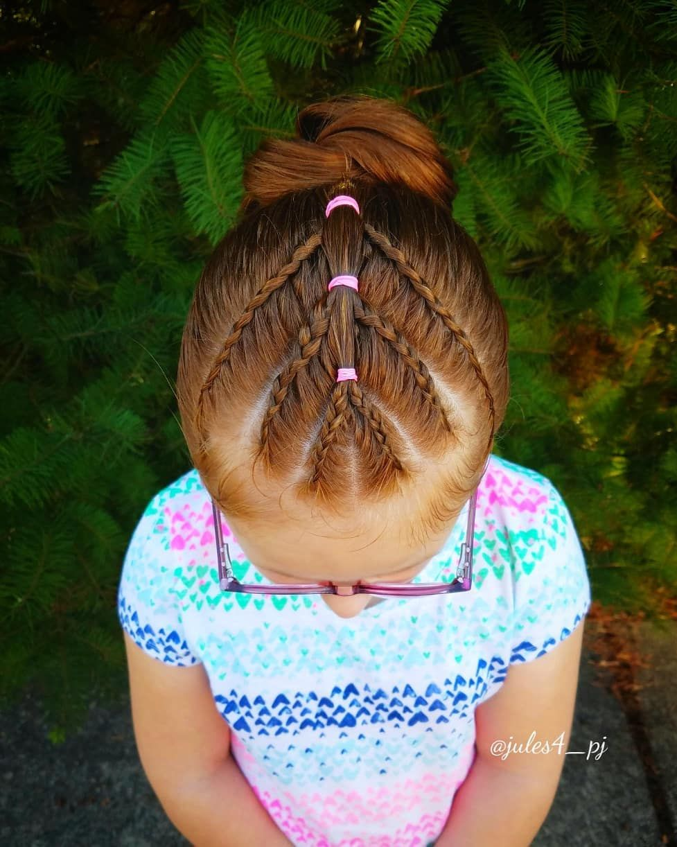 Lace braid dutch braids buns updo cute girl hairstyles braids