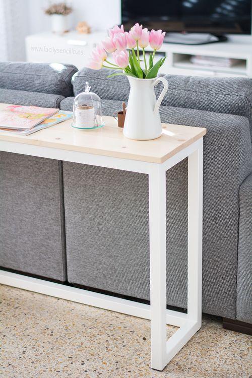 Tengo nueva mesa n rdica para detr s del sof f cil y - Alicatar cocina detras muebles ...