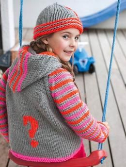 Hooded Jacket With Question Mark S8904 Free Pattern Knitting