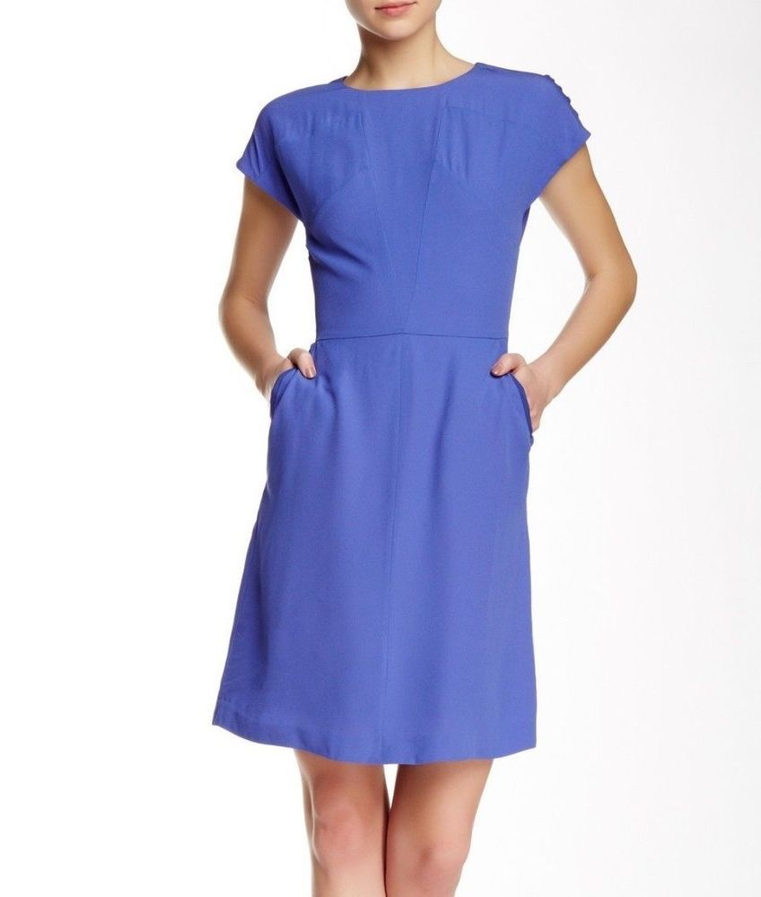 42939f68f4 Boss By Hugo Boss Blue Direlli Crepe Smart Pencil Shift Office Dress 10 38  £370