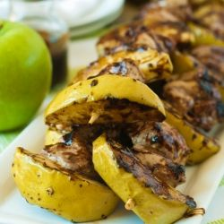 Pork and Apple Skewers recipe