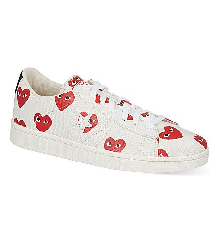 b7dbf0a2843d COMME DES GARCONS Converse Cons low-top trainers (White heart ...
