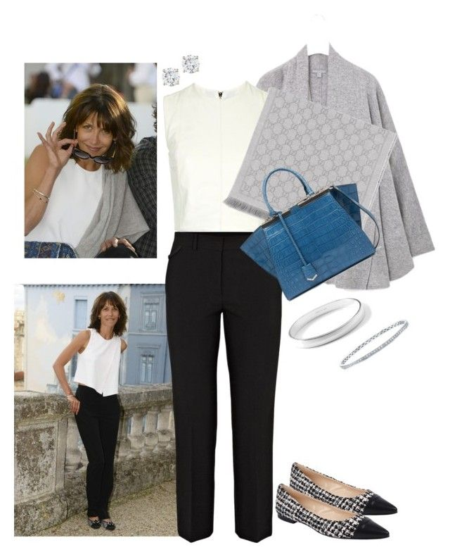 """""""Sophie Marceau: Structured White Top"""" by tgtatiana ❤ liked on Polyvore featuring Opening Ceremony, Helmut Lang, D'Albert, Gucci, Fendi, Ippolita, Anne Sisteron and Dolce Lei"""