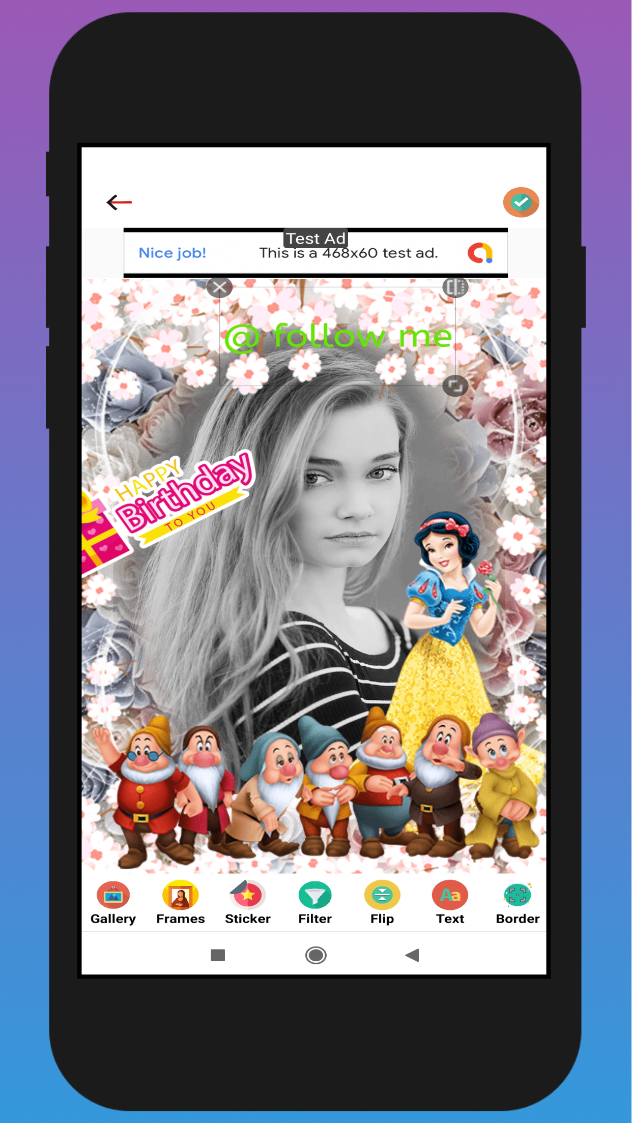 Kids Photo Frame(Android App and Android 10 supported) in