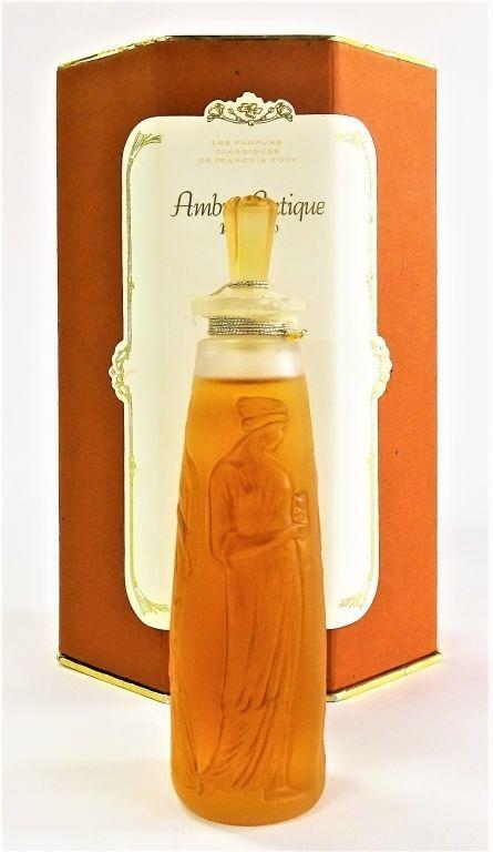 LALIQUE FRANCE 'AMBRE ANTIQUE' PERFUME BOTTLE 1995 Lot 41