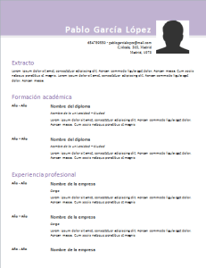 Modelo De Curriculum Cronologico Exelente Pinterest Curriculum
