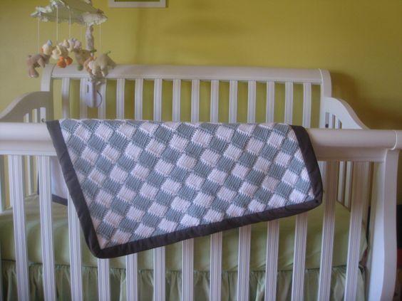 Tunisian Crochet – Entrelac Style Baby Blanket (free pattern) {nikki ...