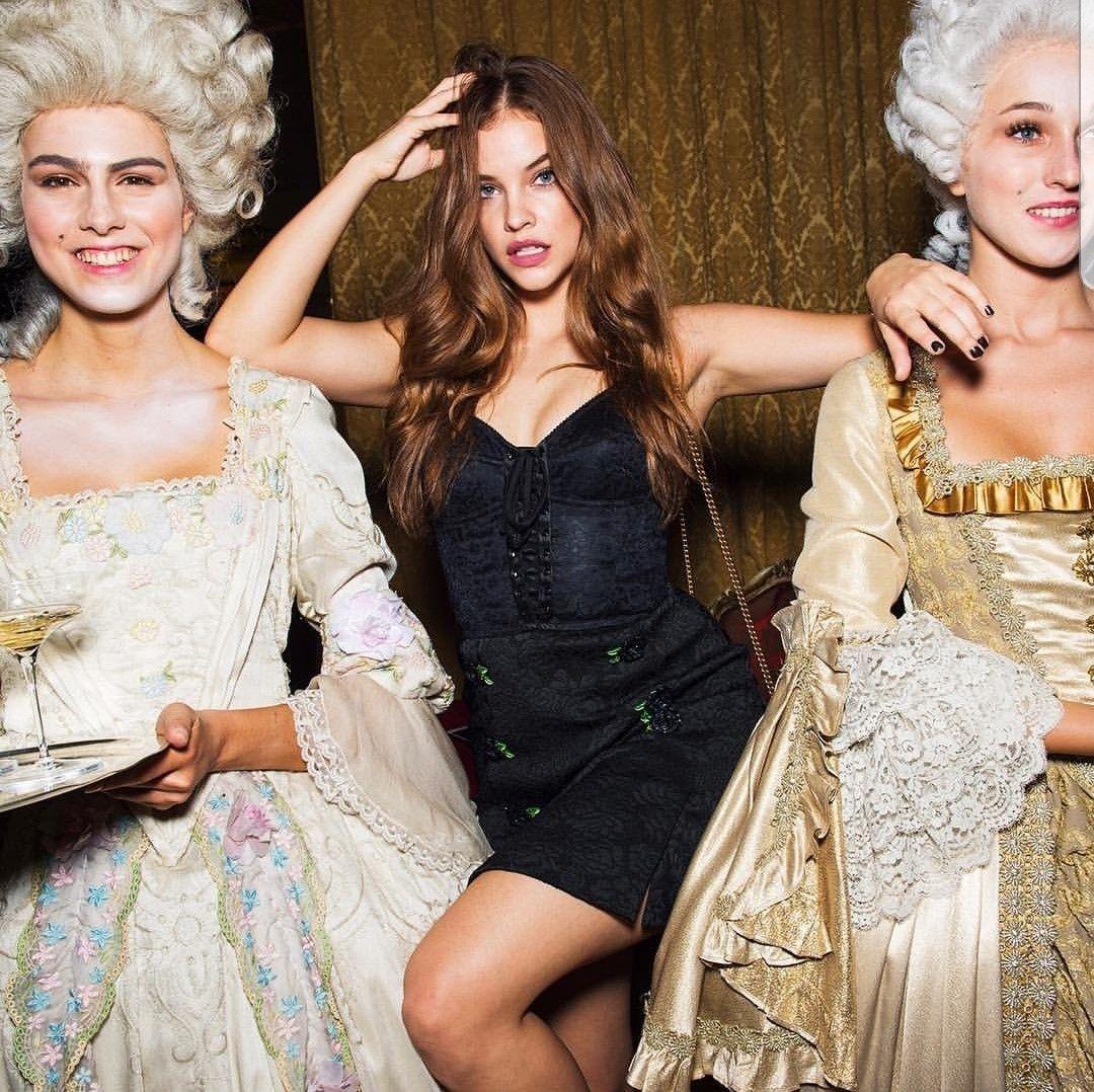 Barbara Palvin, Model, Lacey Dress