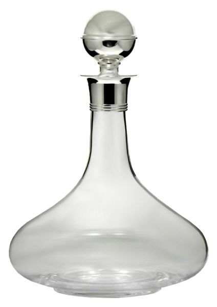 Ships Decanter with Silver Plated Mount and Stopper ( Bottle)-A magnificent Ships Decanter with a silver plated mount and stopper.