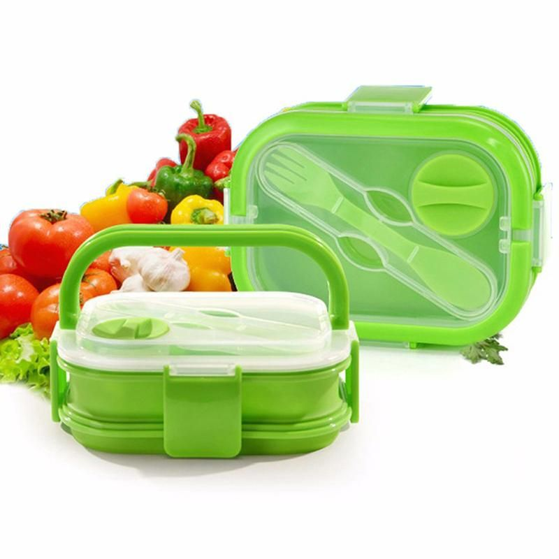 083df09917e7 Visit to Buy] WALFOS 2 Layers Colorful Silicone Lunch Box With ...
