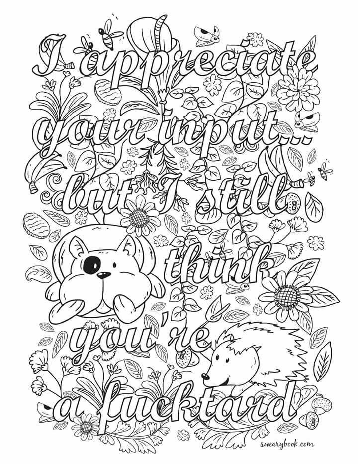 Appreciate it | Adult Coloring Pages | Pinterest