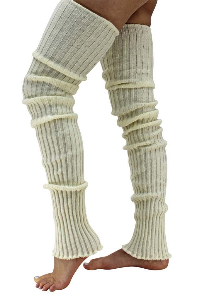 4da8cfa28 Dancers will surely love these super long cable knit leg warmers. They are  39 inches long   made of 70% Acrylic   30% Nylon blend. The extra length is  ideal ...