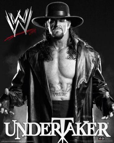Wwe Undertaker Black And White Plakat 40x50 Cm The
