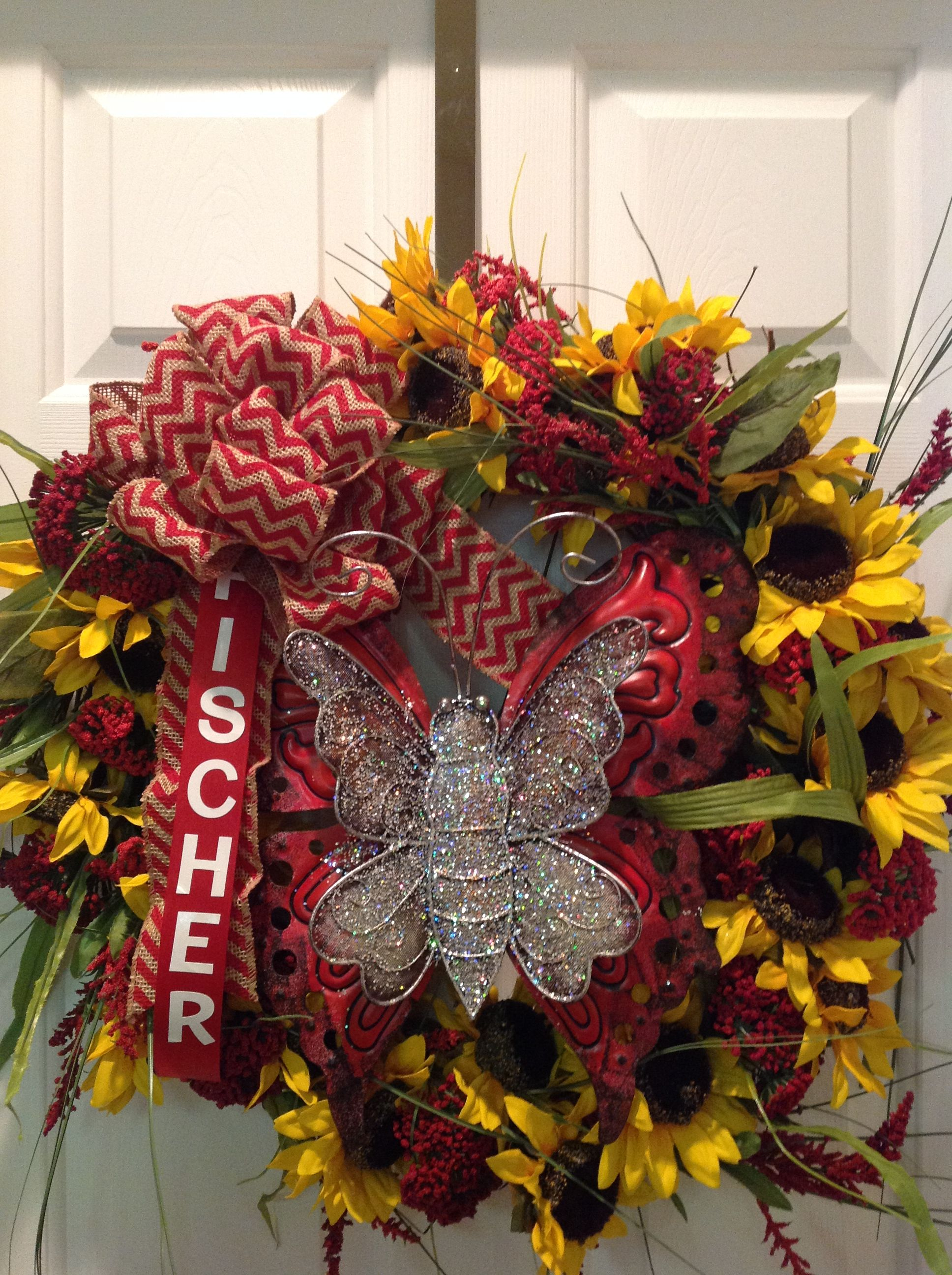 2nd Anniversary Memorial Wreath For My Grandson 2014 Wreaths 2nd Anniversary Fall Wreath