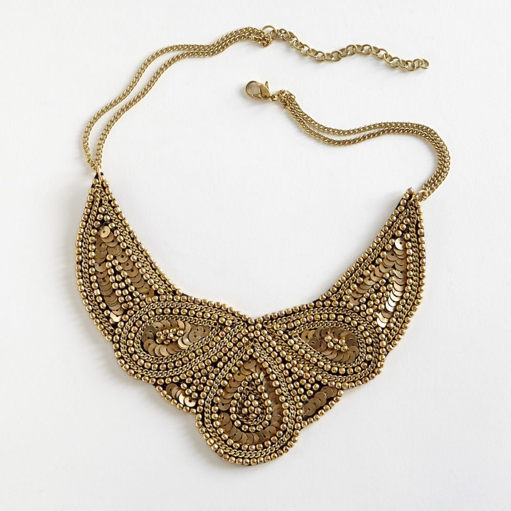 Golden mughal bib necklace bibs store and st