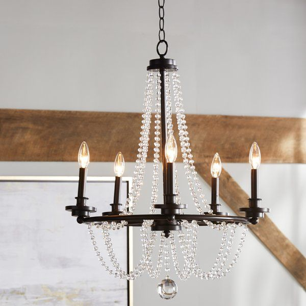Stunning Rows Of D Crystal Beads And Large Finials Combined With A Shining Mohican Bronze Finish Make The Byanca Collection Chandeliers