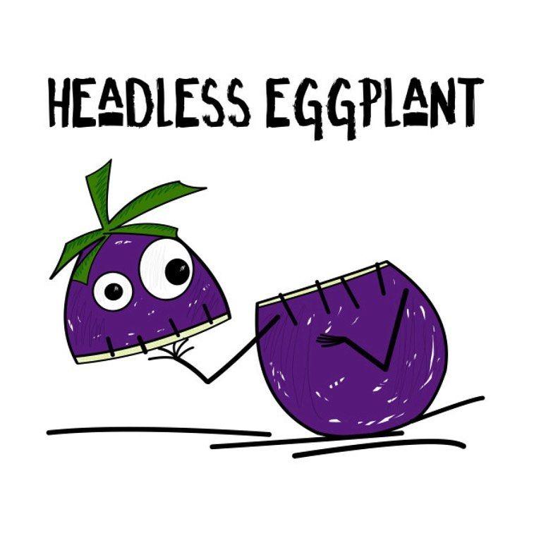 Headless Horseman Aint Got Nothing On The Headless Eggplant Eggplant Veggie Alaskaart Myart Halloween Mon Design De Interiores School Design Design Store