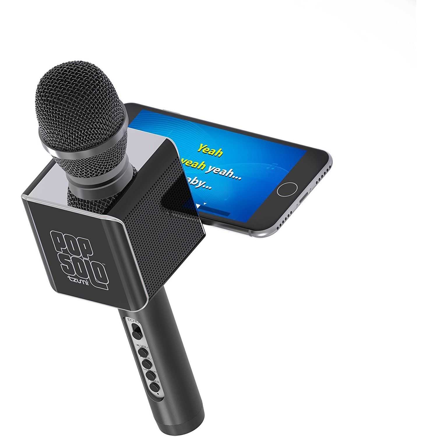 PopSolo Bluetooth Karaoke Microphone and Speaker With