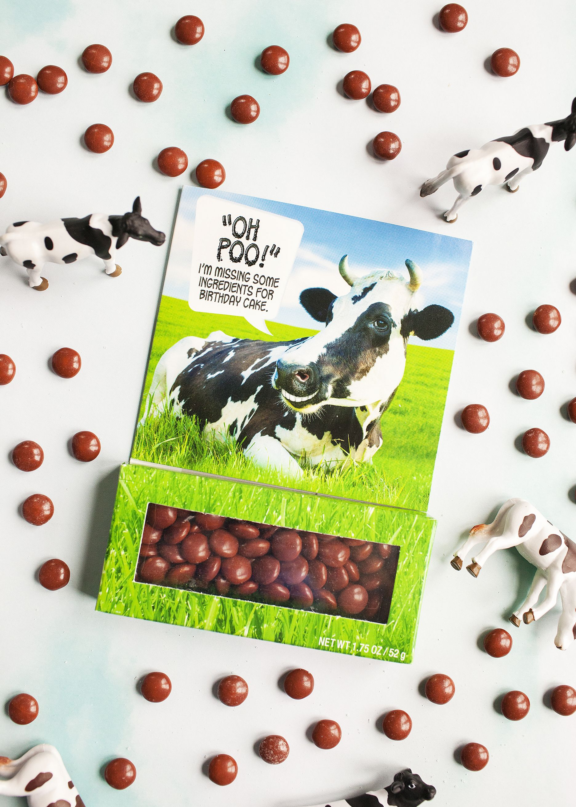 Oh Poo Funny Birthday Card With Cows And Chocolate Candy Inside Visit The Link