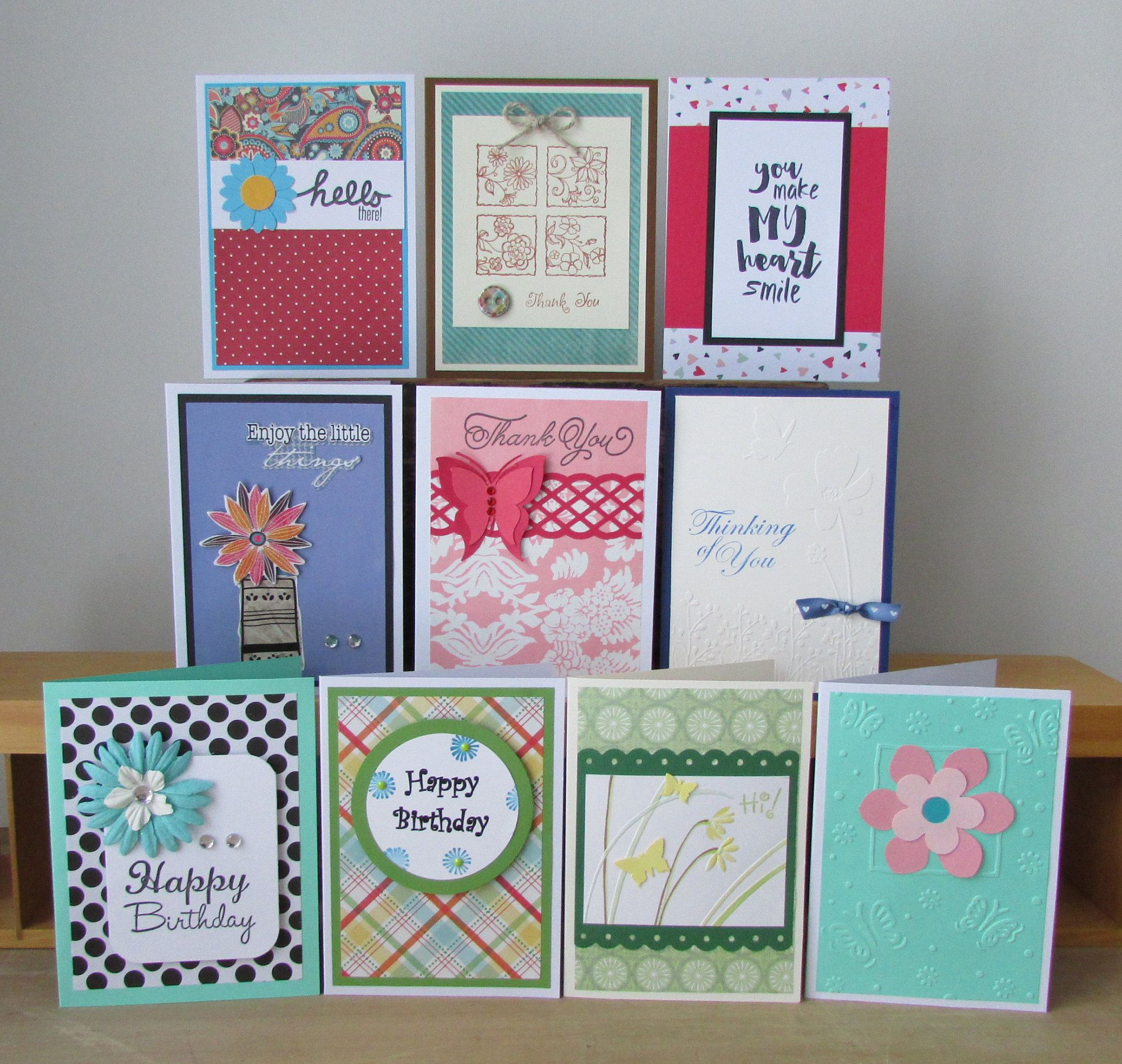 Card Sets 10 Assorted Greeting Cards All Occasion Cards Etsy Assorted Greeting Cards Cards Handmade Birthday Cards
