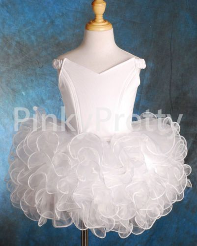 Girls Pageant Dresses Up Shell Party Dance Occasion Birthday Kid Age 2-10y PT001