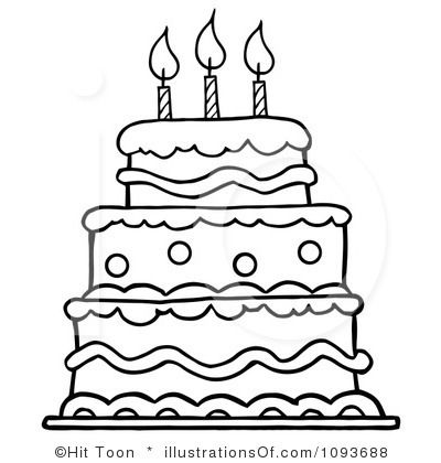 Birthday cake drawing. Clipart by hit toon